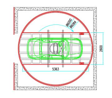 Platforma auto rotativa