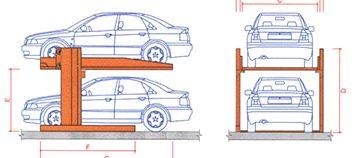 Multiplicator parcare auto tip P